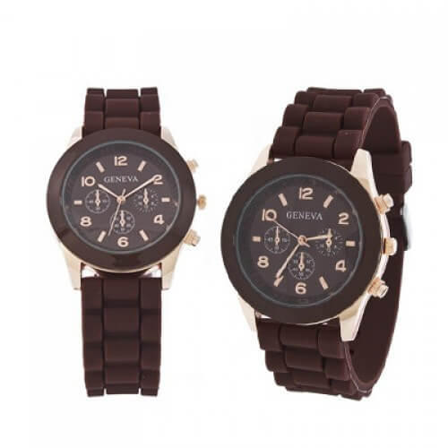 Brown Silicone Watch