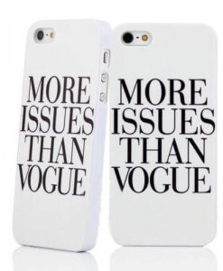 More Issues Than Vogue iPhone hoesje