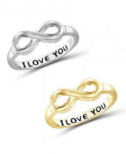 Infinity I Love You ring